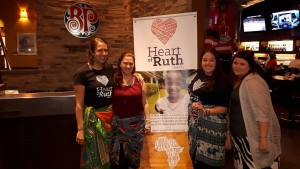 From the left- Kristi, Krysta, Rebecca and Seanna Mapenzi is featured in the Heart of Ruth Mission poster.