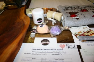 Locally made soap and bath products donated to our auction by Muskoka Suds